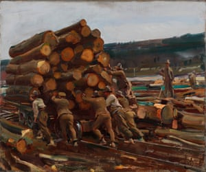 Moving the Truck Another Yard by Alfred Munnings