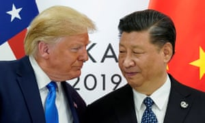 Donald Trump and Xi Jinping at the start of their bilateral meeting at the G20 leaders summit in Osaka, Japan on 29 June 2019. 'Both countries would be damaged by a trade war.'