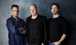 Dan Reed (centre), Leaving Neverland's director, with Wade Robson and James Safechuck.