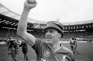 Steve Nicol's bowler is adorned by the trophy lid.