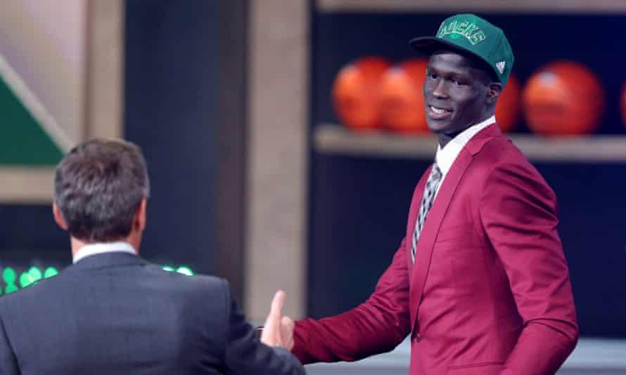 Thon Maker during the NBA draft