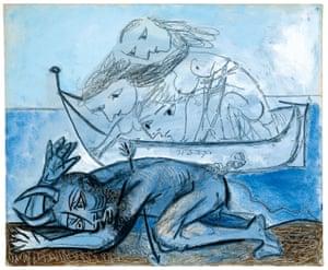 Barque de naïades et faune blessé, December 31, 1937.