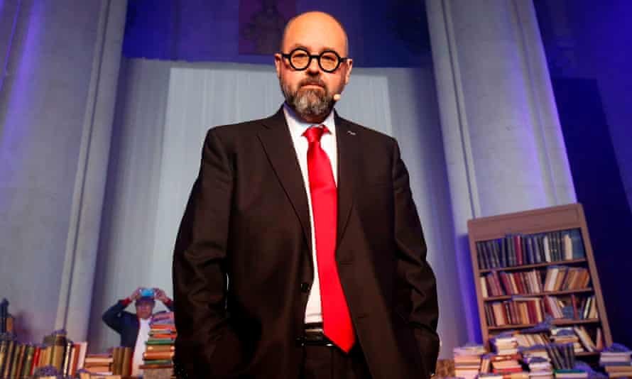 Carlos Ruiz Zafon at the launch of The Labyrinth of the Spirits at the Expiatory Church of the Sacred Heart of Jesus in Barcelona.