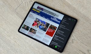 iPad with Guardian on it