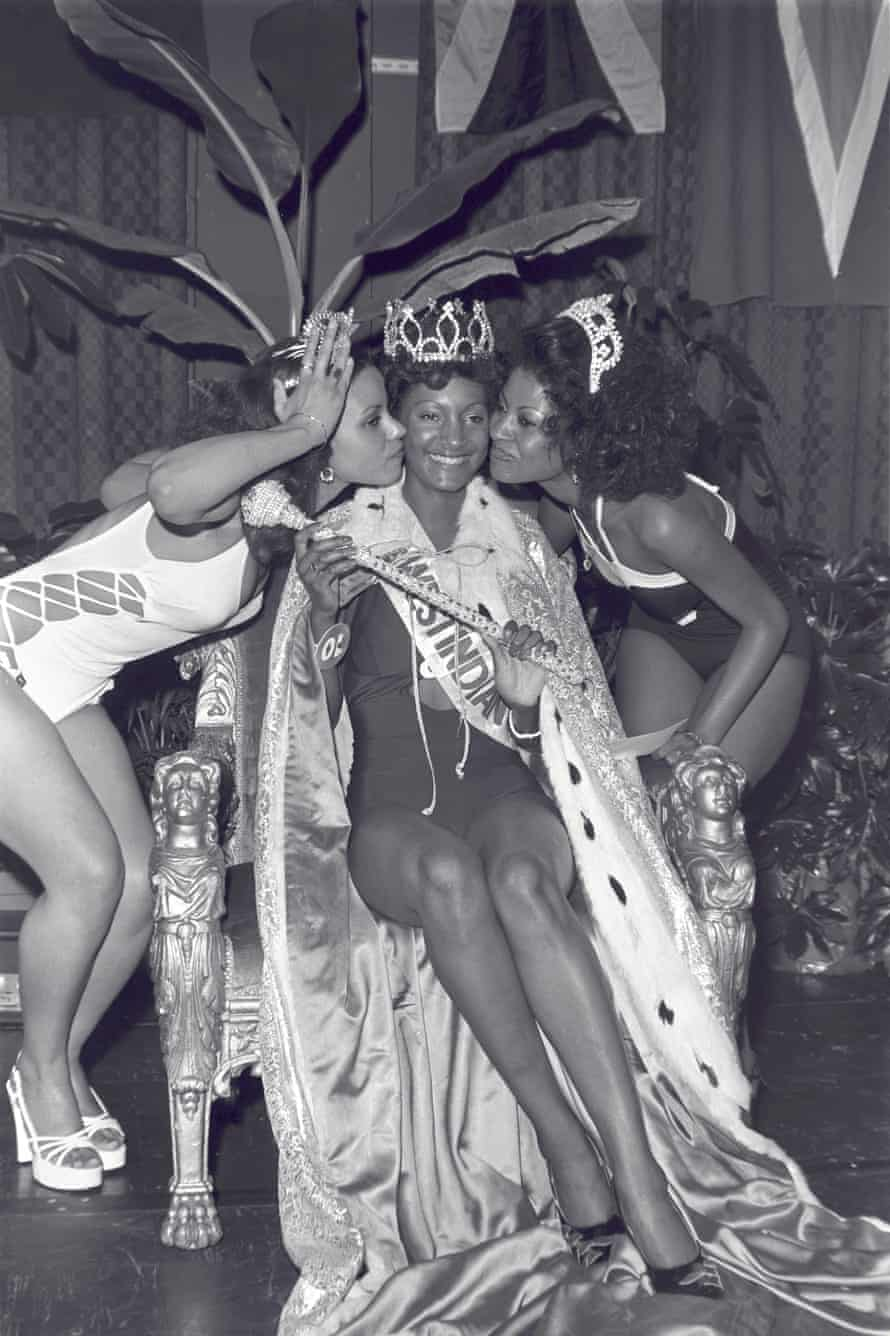 Ann Wharton, Yana Francois and Veronica White are crowned Miss West Indies at one of the first black beauty pagents in London, in 1975.