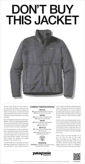 Patagonia's Don't Buy This Jacket ad