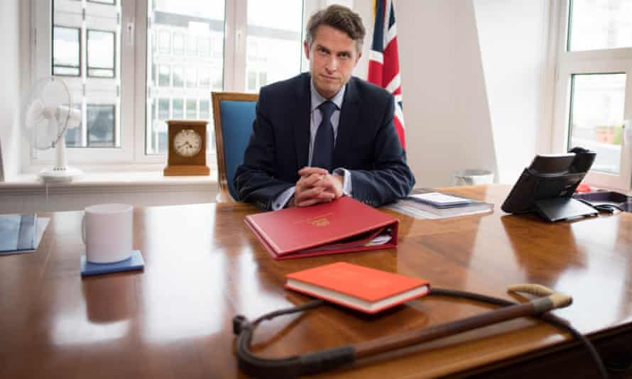 Gavin Williamson with whip