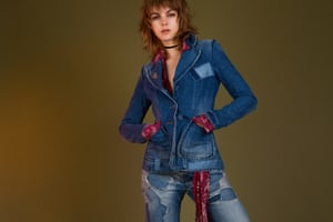 Double denim: jeans go back to the 70s.