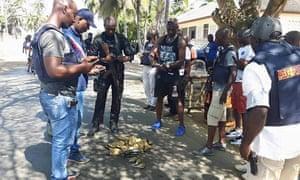 Scenes following a gun attack on an Ivory Coast beach resort.