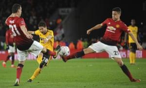 Wolverhampton's Joao Moutinho lets fly.