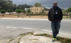 Sudanese refugee Omar in Valletta.
