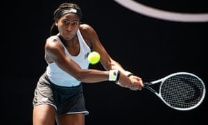 Coco Gauff at the Australian Open in January, where the American teenager reached the fourth round