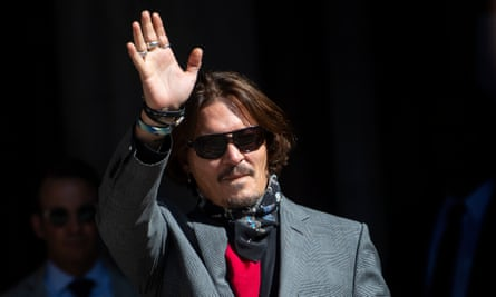 Johnny Depp arrives at the high court in London on Tuesday.