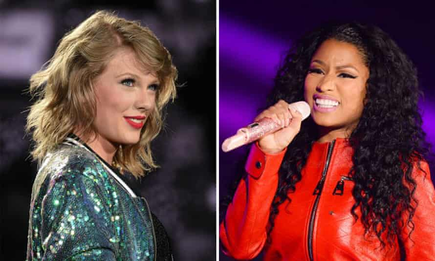 Taylor Swift and Niki Minaj: got beef.