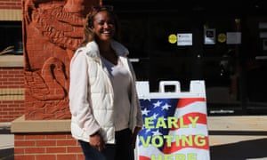 Danielle Benson, 45, a resident of Fulton County, sad she voted early early to make sure her vote is counted and also so that people can see the turnout numbers as encouragement.