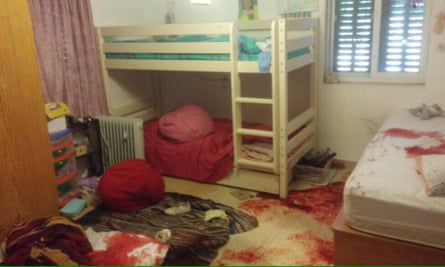 The Israeli military released a photograph showing Hallel Yaffa Ariel's blood-stained bedroom.
