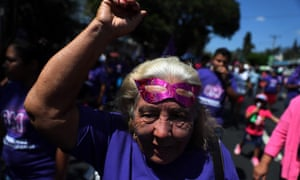 Hundreds of Salvadorian Women demonstrated in San Salvador to demand decriminalization of abortion in four cases, the cessation of acts of violence against women and the full respect of their rights, during the International Women's Day.