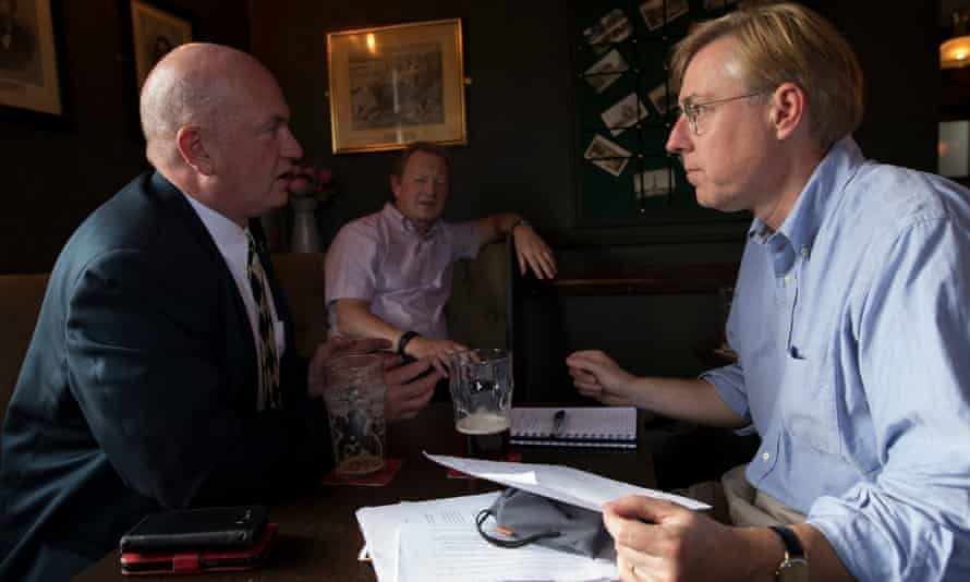Sheffield Ukip councillor John Booker (left) being interviewed by Thomas Frank (right).