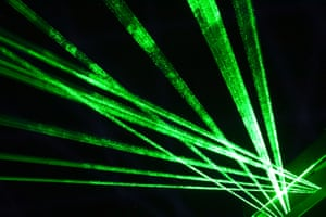 ... and then sets the lasers running.