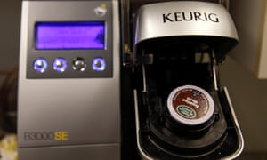 A single-serve Keurig Green Mountain brewing machine. A handful of coffee companies are developing 100% compostable pods to address the challenges of single-serve pods ending up in landfills.