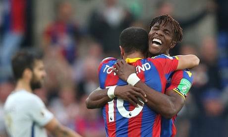 Crystal Palace shock champions Chelsea as Wilfried Zaha secures vital win