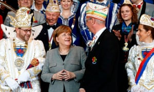 Angela Merkel is not known to dress up for carnival.