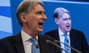Philip Hammond addresses the Conservative party conference in Manchester.