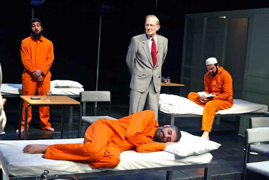 Guantánamo: Honour Bound to Defend Freedom by Victoria Brittain and Gillian Slovo, directed by Nicolas Kent at the Tricycle theatre, London, May 2004.