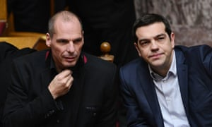 Greece's prime minister, Alexis Tsipras, right and finance minister Yianis Varoufakis said they were confident the government's plan would be approved.