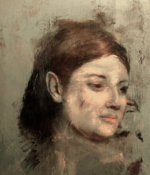 A reconstruction of the image discovered beneath Degas's Portrait of a Woman.