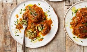 Yotam Ottolenghi's Sicilian fennel and parmesan dumplings in tomato sauce.