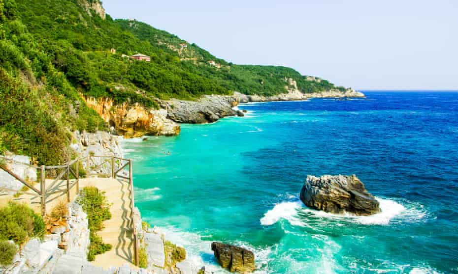 Mylopotamos beach, Pelion, Greece. Beach of Mylopotamos near Tsagarada village Pelio, one of the most beautiful Greek beaches
