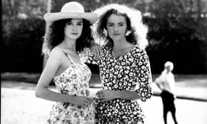 Models wearing Laura Ashley fashions in 1987.