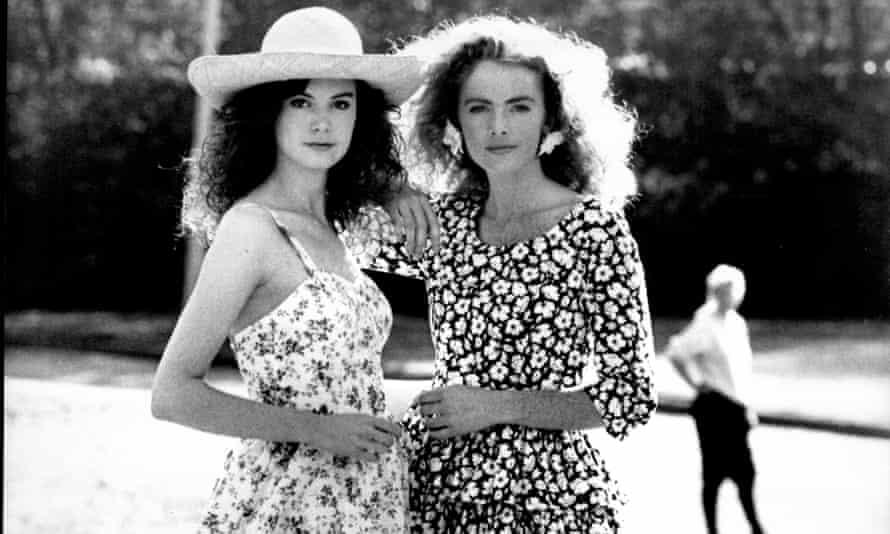 Models wearing Laura Ashley fashions in 1987.