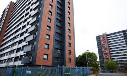 Arthur Millwood Court in Salford is one of the tower blocks Salix Homes plans to remove cladding from
