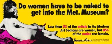¿Las mujeres tienen que estar desnudas para entrar al Met?  ¿Museo?  1989