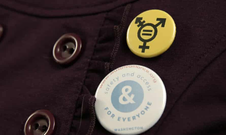 A supporter of Washington''s transgender friendly bathroom law, which has sparked debate.