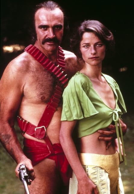 Connery with Charlotte Rampling in Zardoz