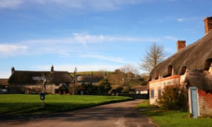 The village of East Chaldon in the Purbeck district of Dorset