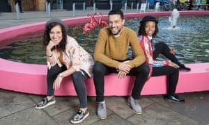 Anisa Haghdadi (left), founder of Beatfreeks, a with Raza Hussain and Rochaé Stephens-Morrison.