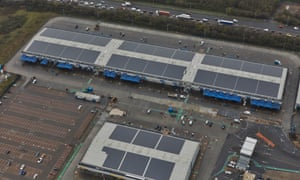 The 1.73MW array of solar panels installed by the London Borough of Hounslow generate half Western International Market's electricity demand.