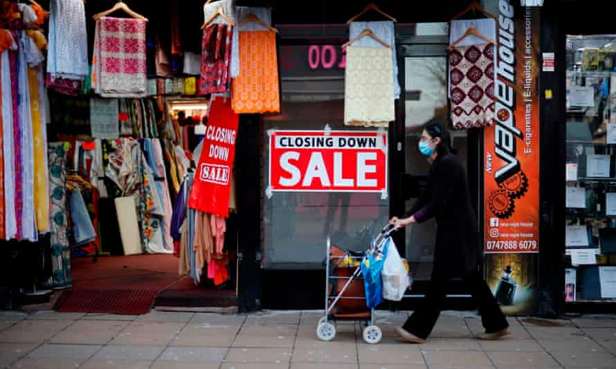 Up to 401,690 shops are shuttered around the country as Covid restrictions continue.