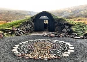 Páll Guðmundsson's turf-roofed studio, Iceland