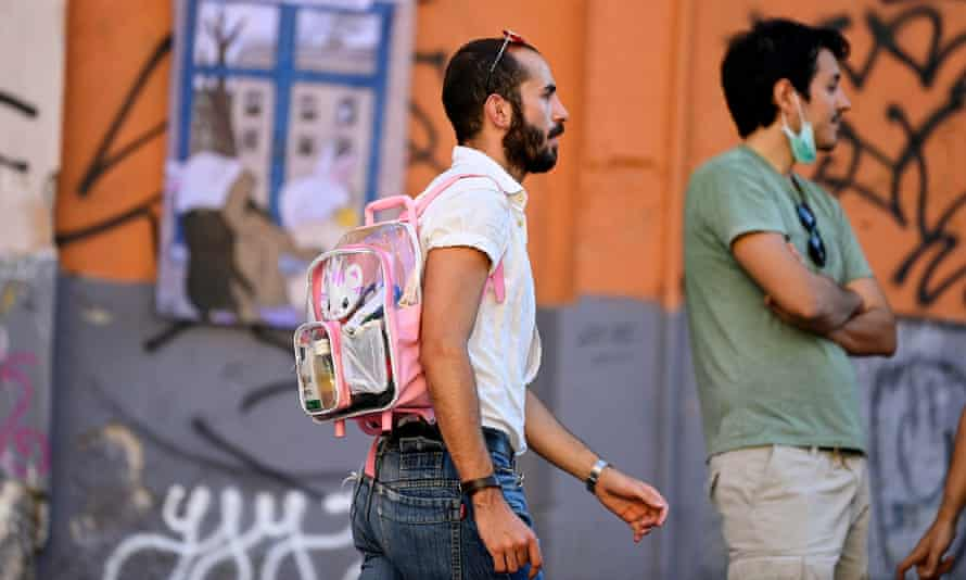 People mark the global pride celebrations in Rome's San Lorenzo neighbourhood in June.