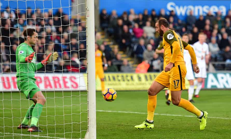 Glenn Murray taps in from close range to give Brighton the lead in the first half.