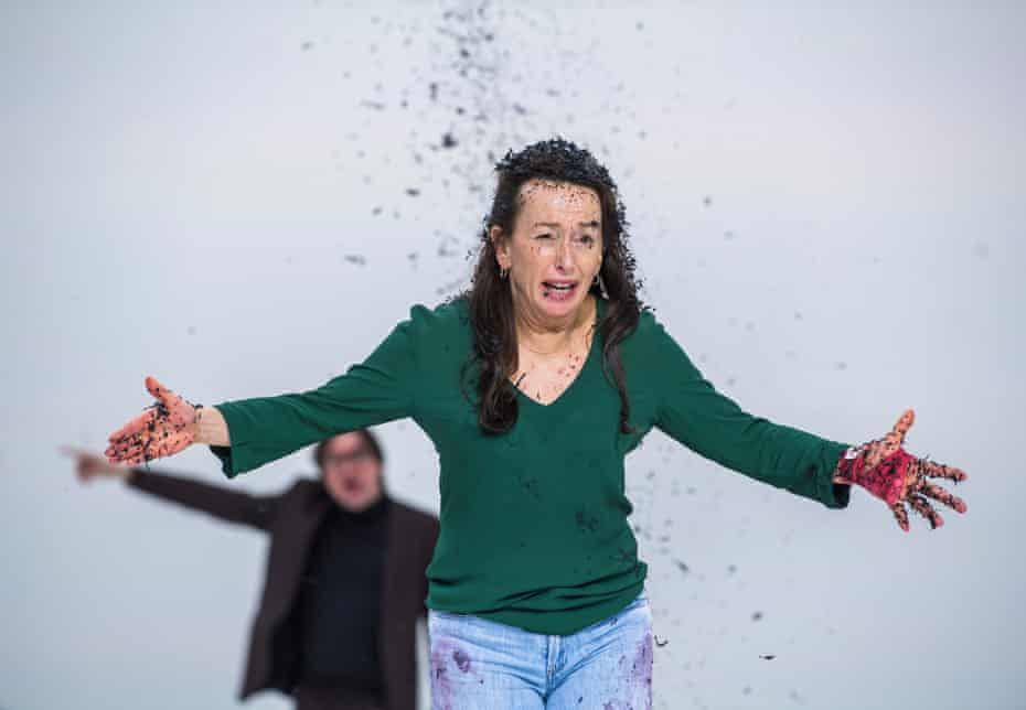 After Euripides … Aus Greidanus Jr as Lucas and Marieke Heebink as Anna in Medea by Simon Stone.