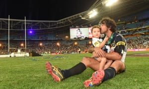 Johnathan Thurston with his daughter