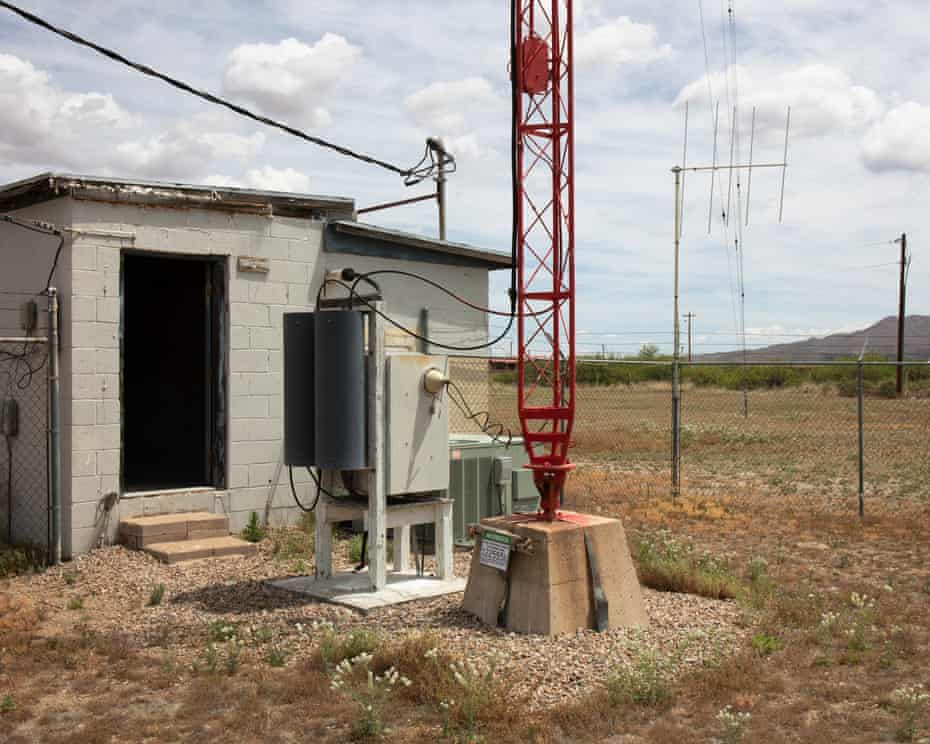 In the kill zone of the radio tower with the dungeon in the background in Willcox, AZ on May 9th 2019.