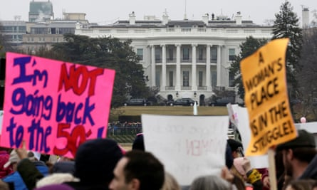 Hundreds of thousands of people attended the Women's March on Washington on Saturday.