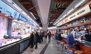 Santa Caterina Market food market in Barcelona